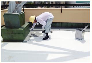 屋上・壁面の防水工事、塗装工事